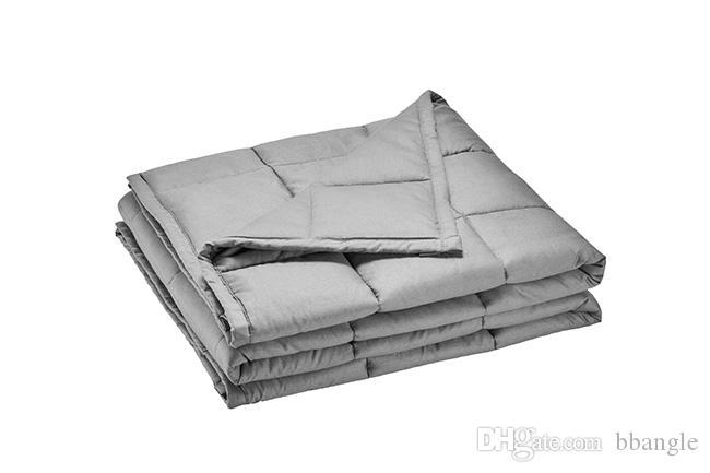 Gewichtete Decke für sensorische Ruhe 36x48inch 5LBs 100% atmungsaktive Baumwolle Premium Glasperlen Füllung weiche schwere Deckenquilts Autismus
