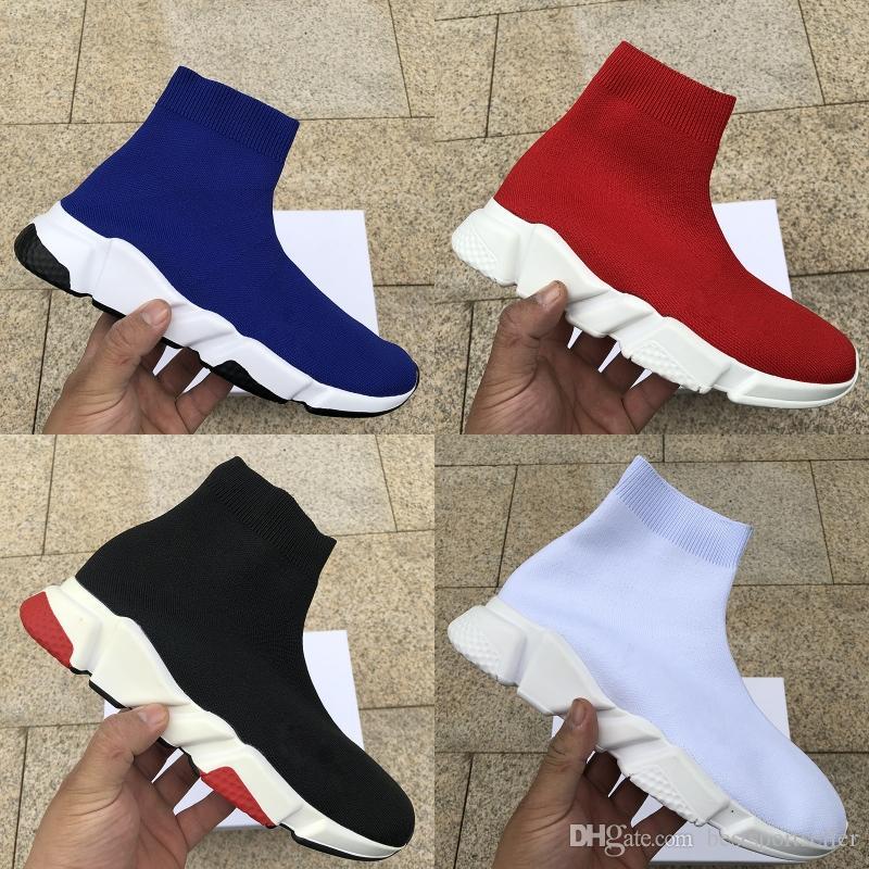 Günlük Ayakkabılar Hız Eğitmen bayanlar Paris Çorap Ayakkabı Erkek Kadın ağır taban Moda Runner Spor Boots Yürüyüş stilist Sneakers