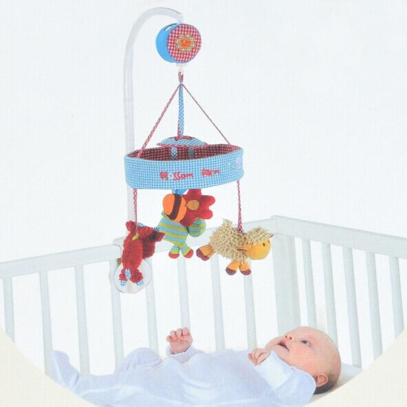 Baby Crib Musical Mobile Cot Box with Holder Arm Baby Bed Hanging Rattle Toys Newborn Gift Learning& Education