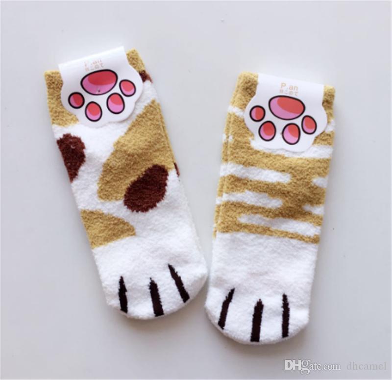 Neue Art-Socken-Haustier-Versorgungsmaterialien weiche Socken-Katzen-Fuß-Ausgangsschlaf trifft korallenrote Samt-Bodensocken hart