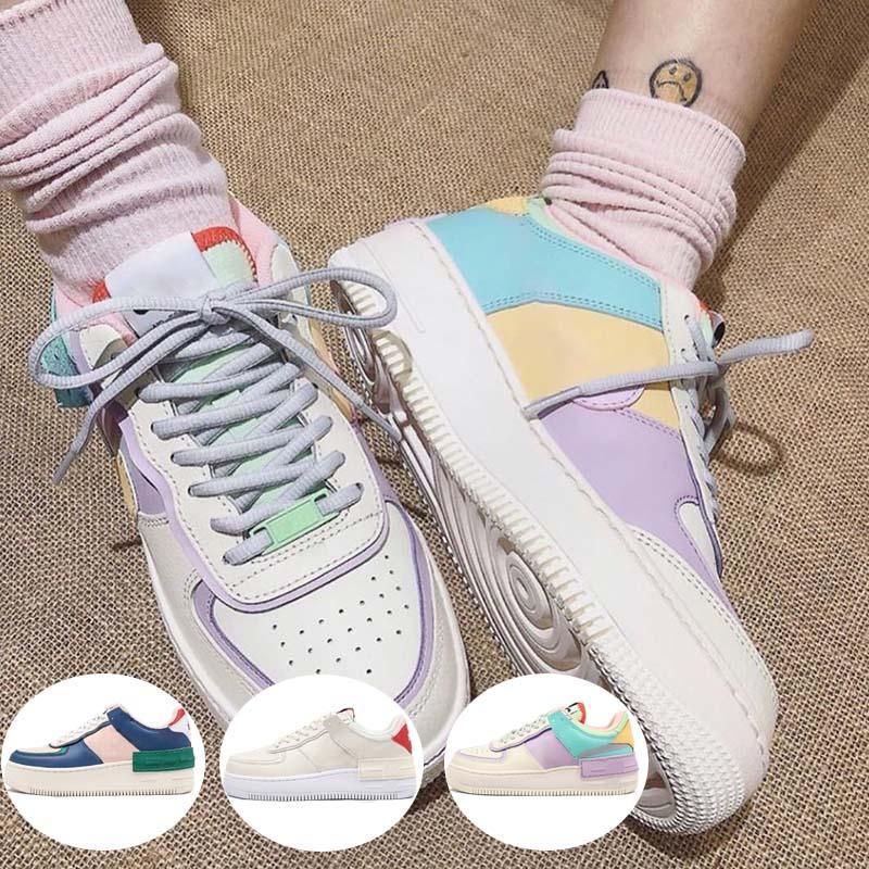 2020 zapatos corrientes nuevos bajo WMNS diseñador para mujer de crema de caramelo niñas Macaron 1 Sombra Tropical torcer Deportivo Monopatín las zapatillas de deporte Zapatos fuera
