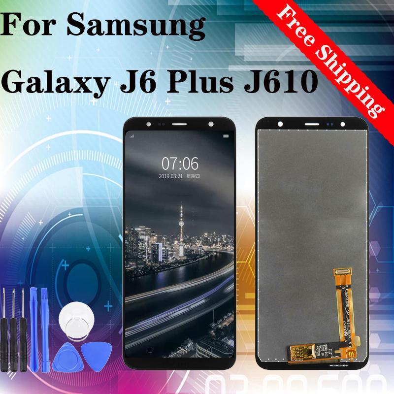 Dokunmatik Meclisi Ekran Değiştirilmesi Samsung Galaxy J6 Artı J6 + 2018 J610G J610G / D J610FN LCD Ekran Sayısallaştırıcı İçin Orjinal