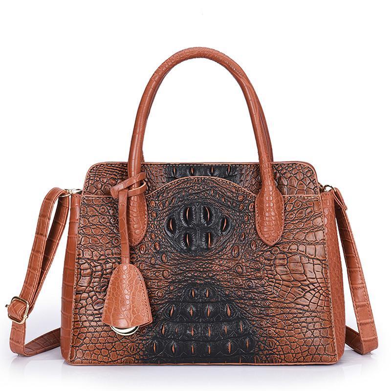 Sacs à main de luxe de haute qualité Femmes Sacs Designer Motif crocodile Sac à bandoulière en cuir dames de grande capacité Sacs fourre-tout Mode Sac A Main