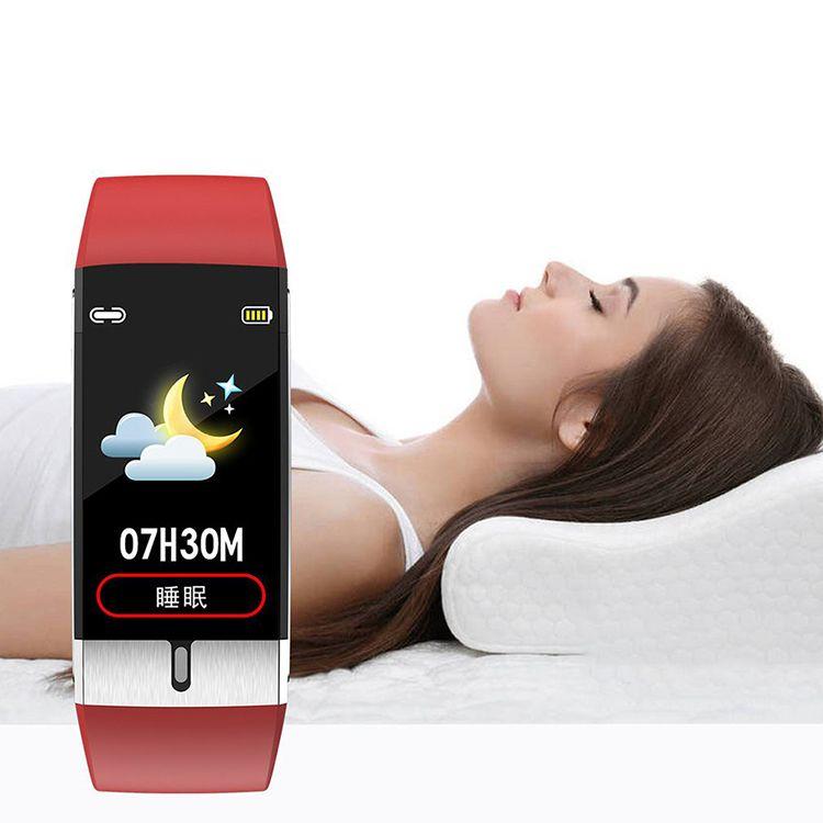 Corpo a buon mercato di misurazione temperatura di vigilanza del braccialetto E66 intelligente con pressione ECG frequenza cardiaca Sangue Fitness Bluetooth Health Tracker Smartwatches