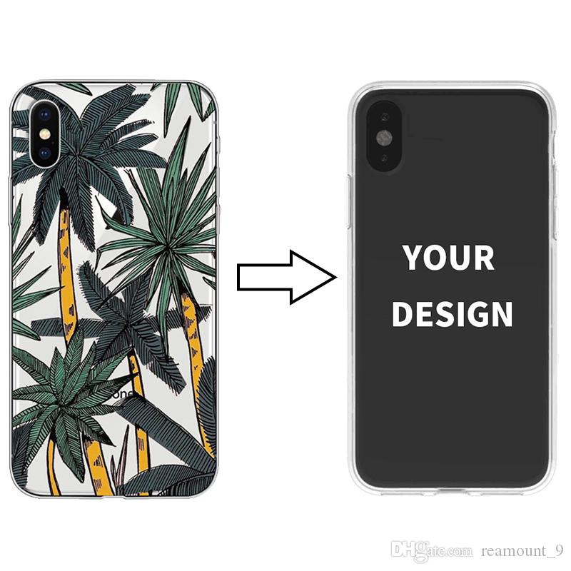New Arrival Art Painting Custom Your Own Design Soft Silicon Clear Phone Case For iPhone XS MAX For Samsung S10