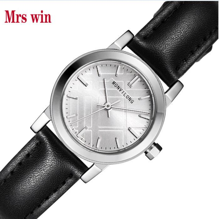 Mrs win Luxury Holuns Original business mechanical men watch leather Waterproof Shock Resistant model wholesale T200112
