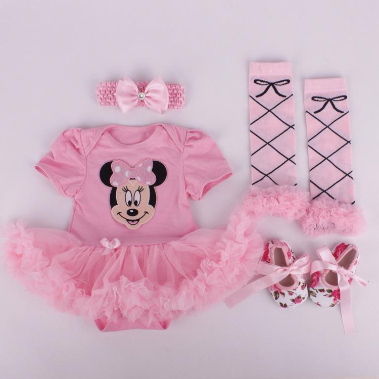Baumwollbaby-Kleidung-Kostüm für neugeborene Baby-erste Geburtstags-Party Tutu Sets Säuglings-Baby-Kleidung