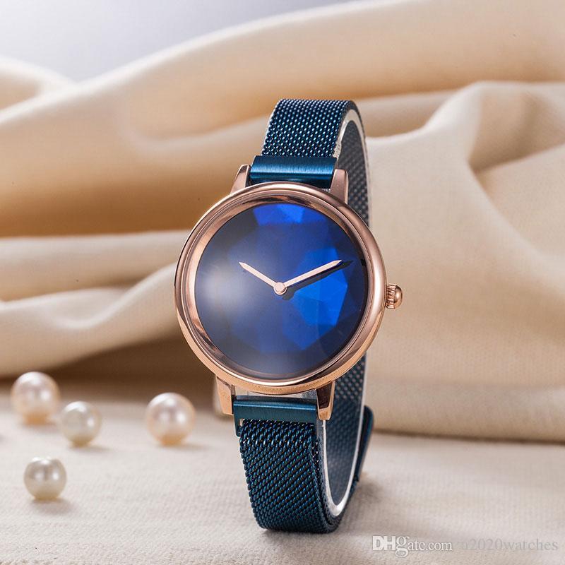 Simple Luxury Mulheres Moda Relógios ouro rosa senhora Relógios de pulso ocasional à moda feminina presente Relógio Estilo esportes das mulheres do movimento de quartzo