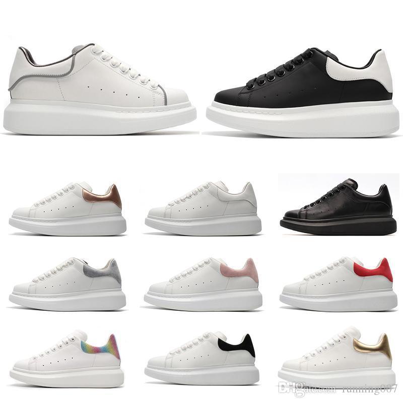 2019 terciopelo negro para hombre para mujer Chaussures zapato hermosa plataforma zapatillas de deporte casuales diseñadores de lujo zapatos de cuero colores sólidos zapato Eur 36-44