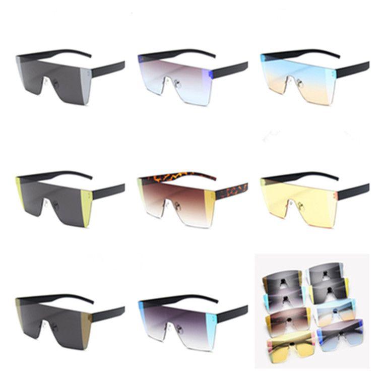 Fashion Color Colour Men Sunglasses Rimless Sun Eyeglasses A++ Lens Glasses Goggles Spectacles Dazzle Stitching Anti-UV Siamese Wqexf