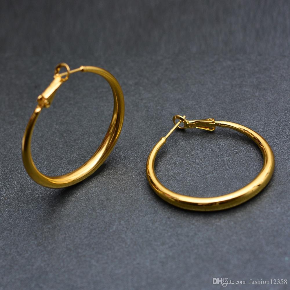 Африка Дубай цвета золота серьги для женщин Эфиопии оптовой продажи ювелирных изделий Halo круглые серьги искажения Цветы серьги