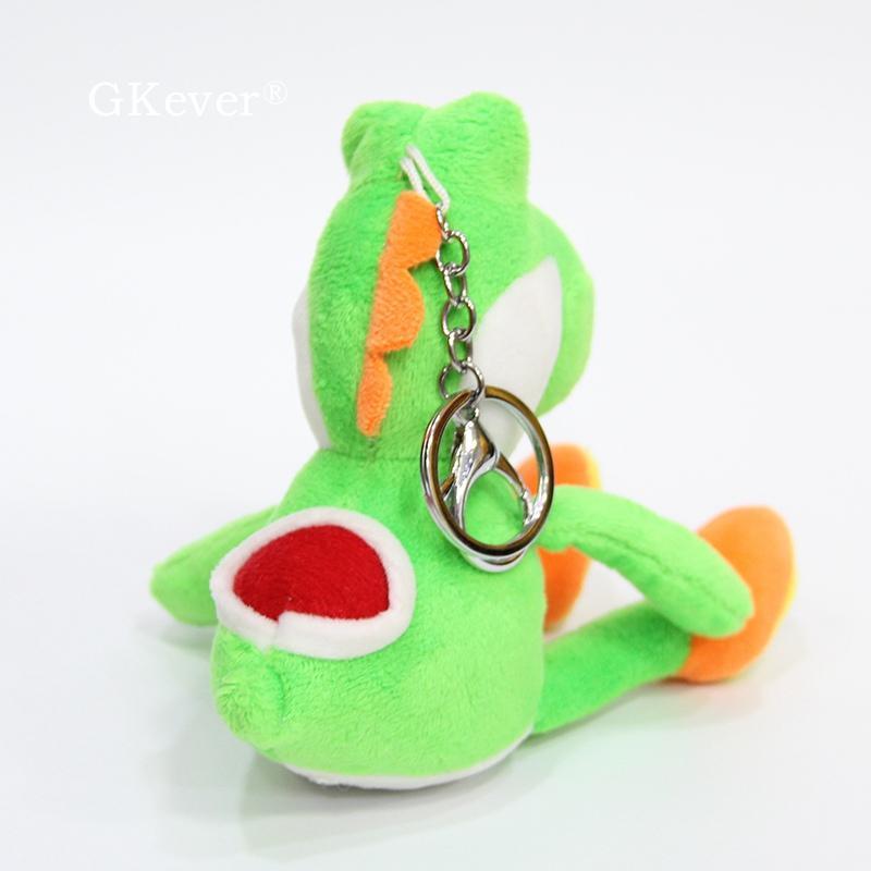 1pc o 10pcs Kawaii Mario Yoshi de la felpa juguetes muñeca de las mujeres llavero 12cm niños y regalo de cumpleaños al por mayor de peluche Yoshi
