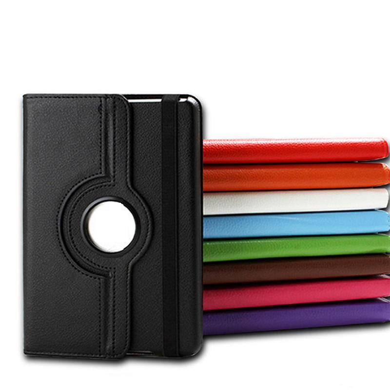360 Grad rotierendes PU-Leder-Flip-Cover-Stand-Koffer für iPad 10.2 Mini 12345 iPad Air Air2 Pro 9.7 2017 10.5 Samsung Tab T510 T580 T590