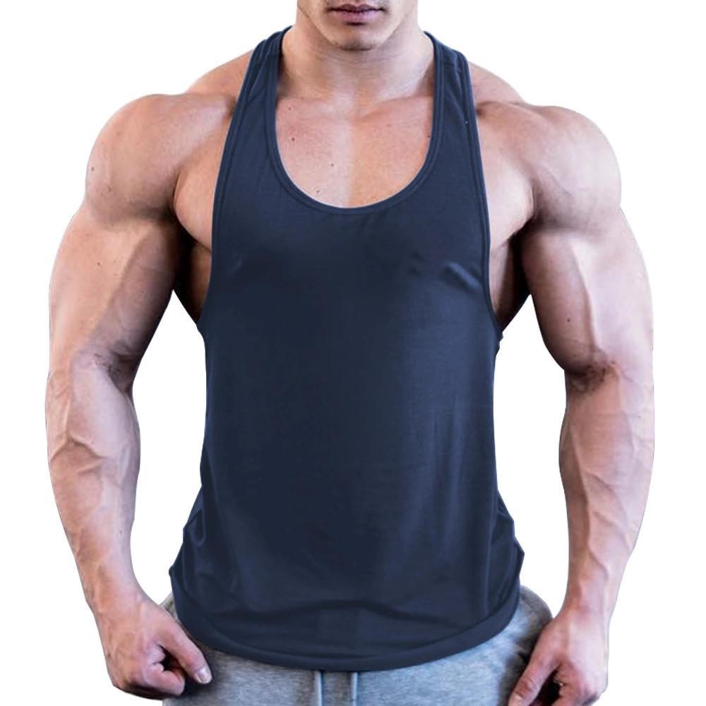 camisa para hombre de siete Joe Nuevo top sin mangas de las camisas de algodón de la moda tanque de hombres de la aptitud singlete culturismo entrenamiento de la gimnasia de la aptitud del chaleco de los hombres