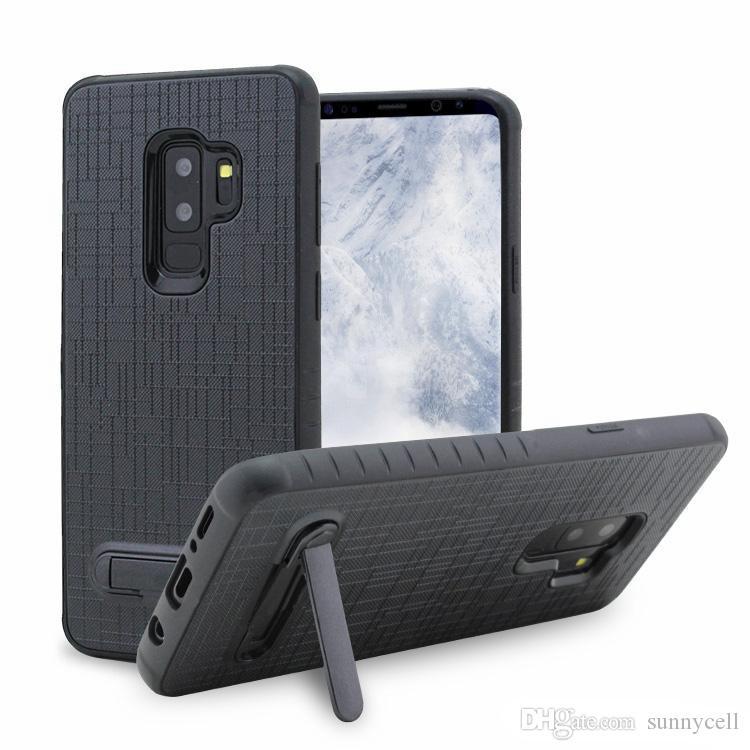 Linen Combo For LG Q7 Stylo 4 G7 K10 2018 For ZTE Z982 For Alcatel 7folio 1X Evolve Drop Resistance Kickstand Protective Case