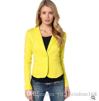 2019 Europe United States small suit jacket XL 2XL spring and autumn girl casual jacket small suit a buckle Ms. suit jacket