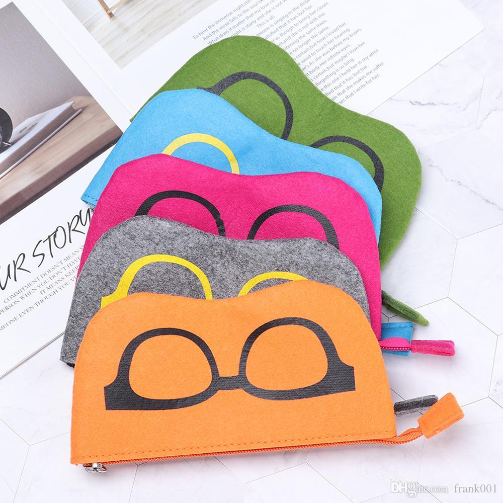 남여 안경 케이스 가방 선글라스 케이스 박스 소프트 지퍼 눈 안경 케이스 보호 안경 케이스 파우치