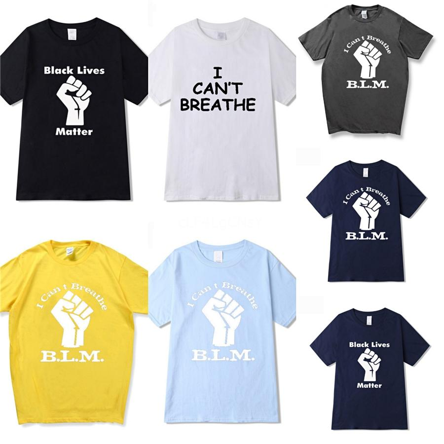 I Cant Breathe!Mens Designer Tops Fashion Casual Brand T Shirts 2020 Summer Men Women Couple Designer Top Tees Short Sleeve Pullover Size #90