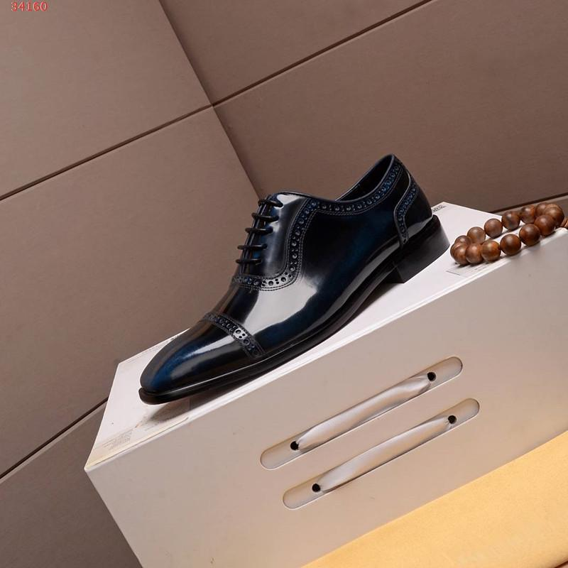 Mens arbeiten klassischer Designer echte Kleid Ledermannschuhe neue internationale Mode- und kontrahiert der Qualitätsmänner formale Schuhe