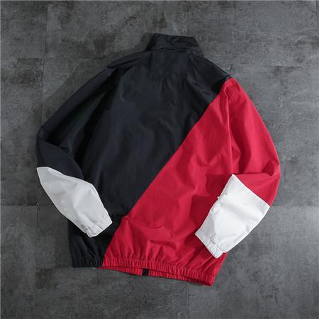 Дизайнерский бренд мужских женских курток весна осень Ветроломные полосы Активного Верхняя одежда Zipper отворот шея черный с красными куртками верхнего качества A B101611V