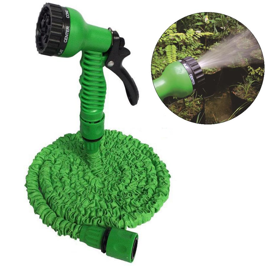 Retractable Fast Connector Water Hose With Multi-function Water Gun House Garden Watering Washing Latex 25FT Expandable Hose Set DH0755 T03