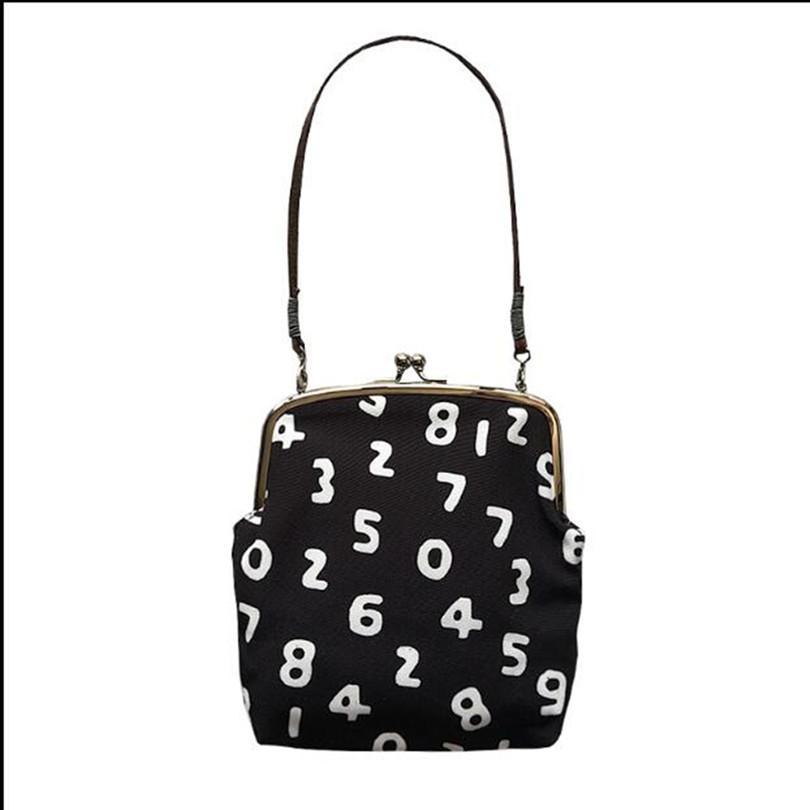 لطيف نمط الرقمية قماش السيدات حقائب اليد الكتف رسول حقيبة حمل مخلب حقيبة عملة محفظة عارضة صغيرة للنساء bolsas