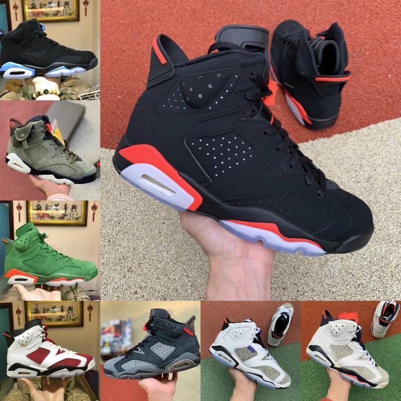 Sale Travis Olive 6 6s Men Basketball Shoes Scotts UNC Tinker Reflect Silver Flight Nostalgia Jumpman Black Infrared Designer Sports Sneaker