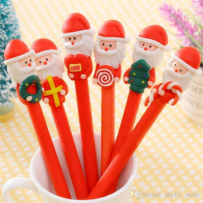 Kawaii Мягкая Pottery Рождество Санта-Клаус Шариковая ручка граффити Шариковая ручка для малышей подарков школа Канцелярские