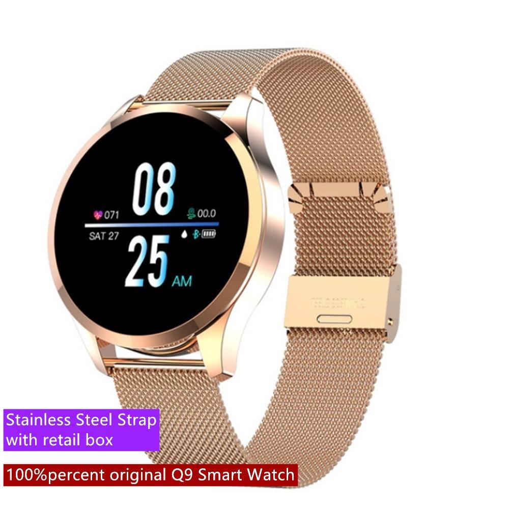 Беспроводные Q9 Смарт часы Водонепроницаемого сообщения вызова Напоминание SmartWatch Мужчины Женщина пульсометр Фитнес Tracker для Android IOS Xiaomi