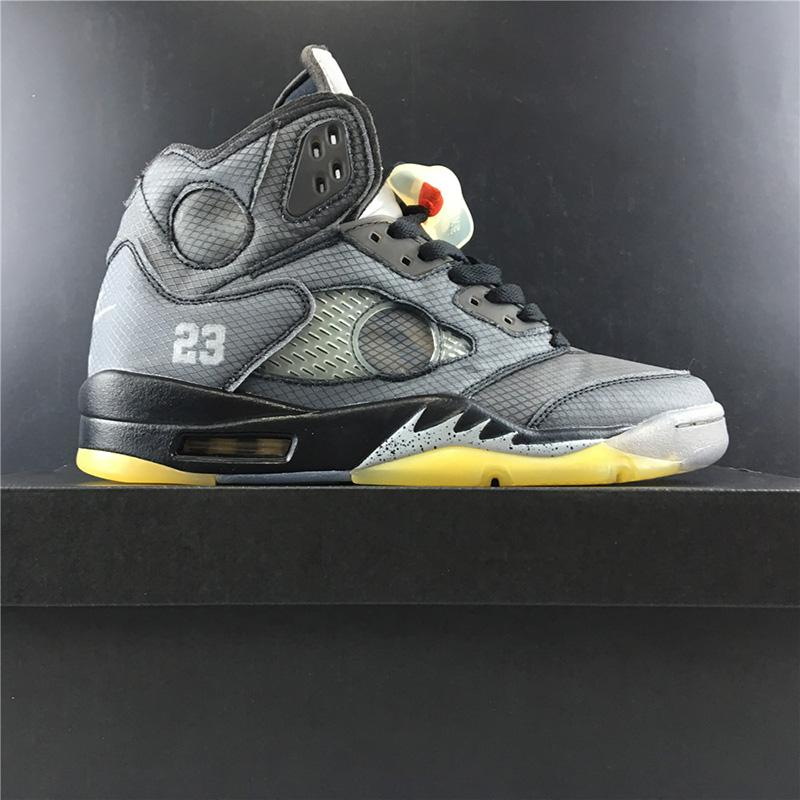 com Box 2020 Mens ténis de Basquetebol Ténis 5s Off 3M Cinzento Amarelo Cinzento Para Homens Sapatos Desportivos Tamanho US7-13