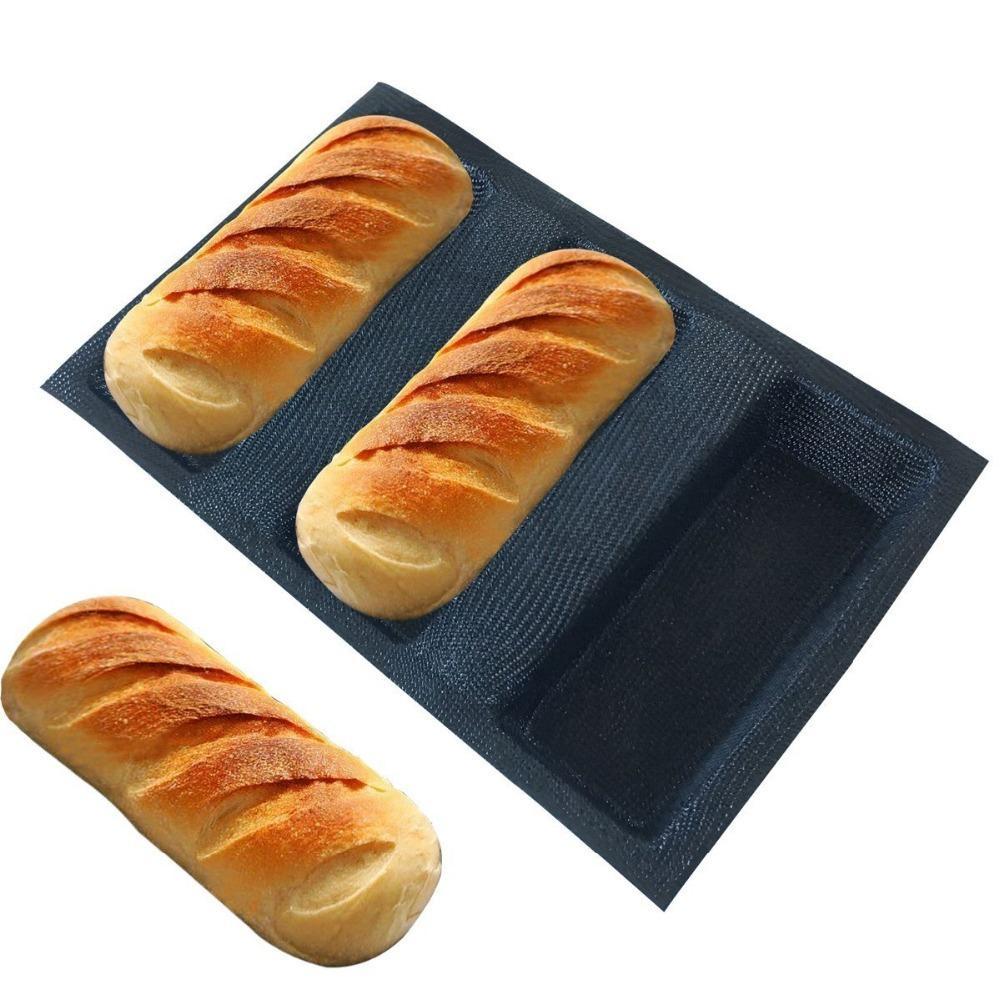 Frete grátis Silicone Pão Forms Quadrado Pão Moldes não Stick Bakery bandeja de silicone revestido de fibra de vidro Pão Pão duro Y200618