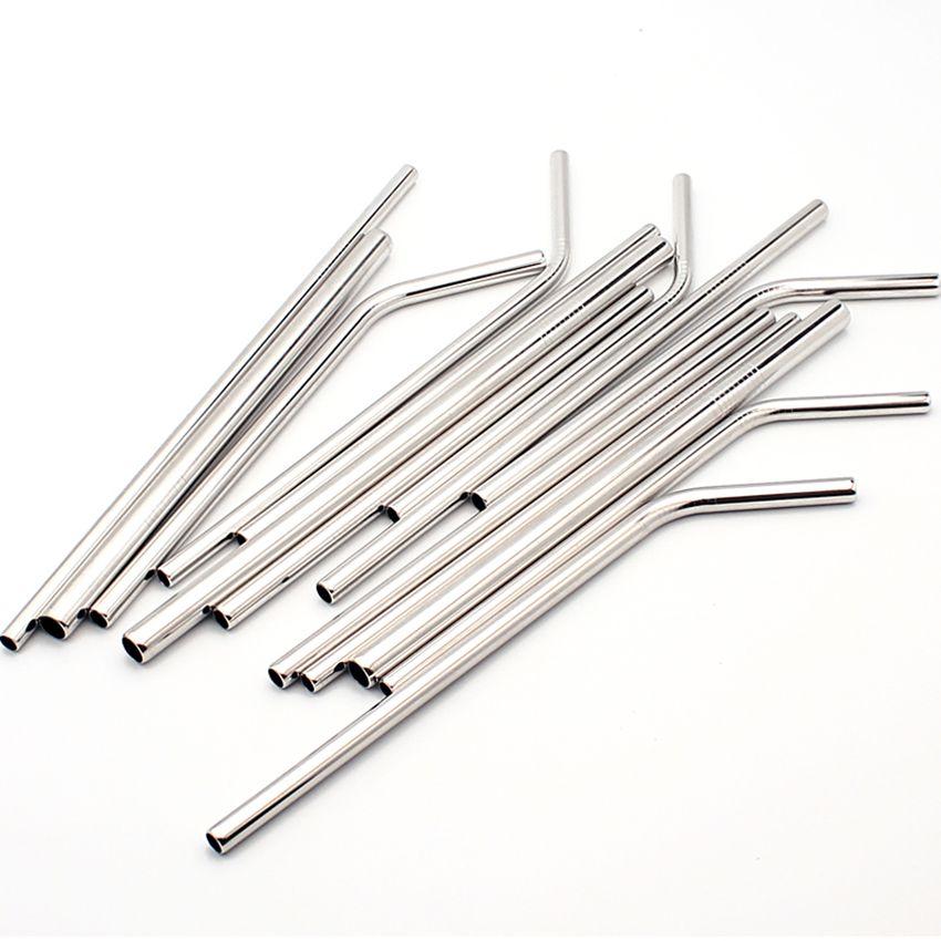 Kupalar için Temizleyici Fırça Seti Yüksek Kalite Çevre Dostu Paslanmaz Çelik Metal Straw ile Straw Yeniden kullanılabilir Payet İçme