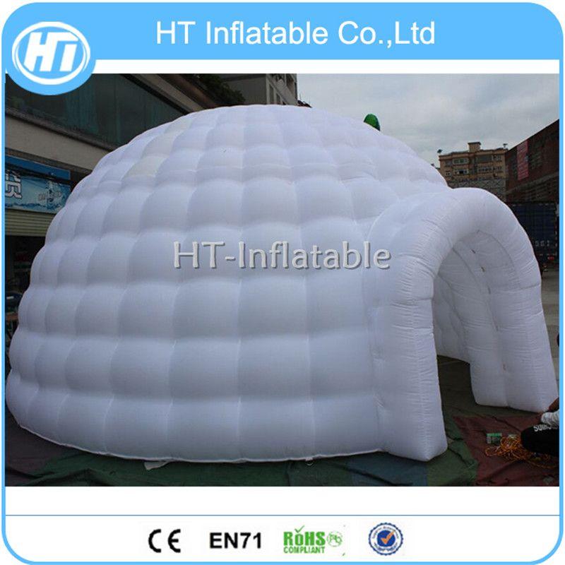 شحن مجاني استخدام الحجم 6M في الهواء الطلق كبيرة خيمة قبة نفخ الأبيض القباني مع LED ضوء الجزء