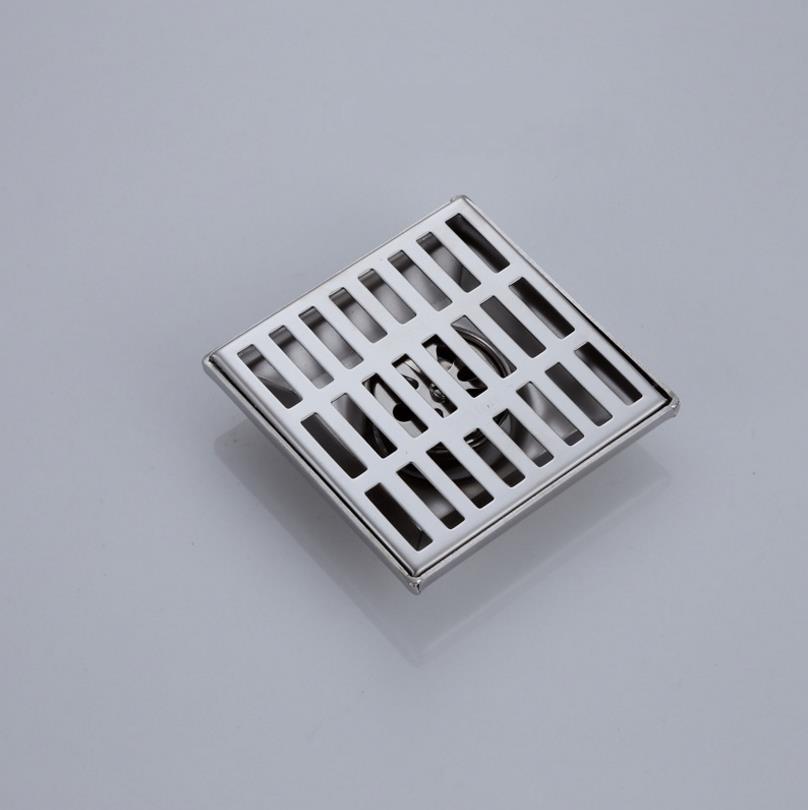 Plato de ducha Suelo de desagüe de ducha cuadrado de suelo en acero inoxidable Para Baño Cocina de residuos de la rejilla Squar