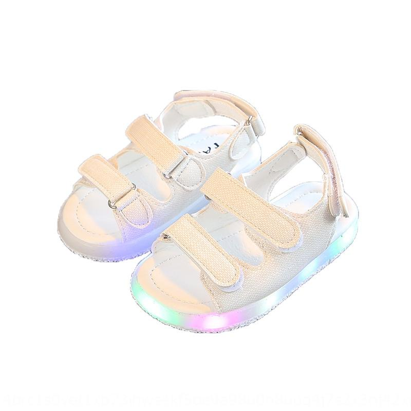 children's children's shoes boys' sandals lighting 0-5 years old and a half boys' baby shoes girls' sandals flashing lights