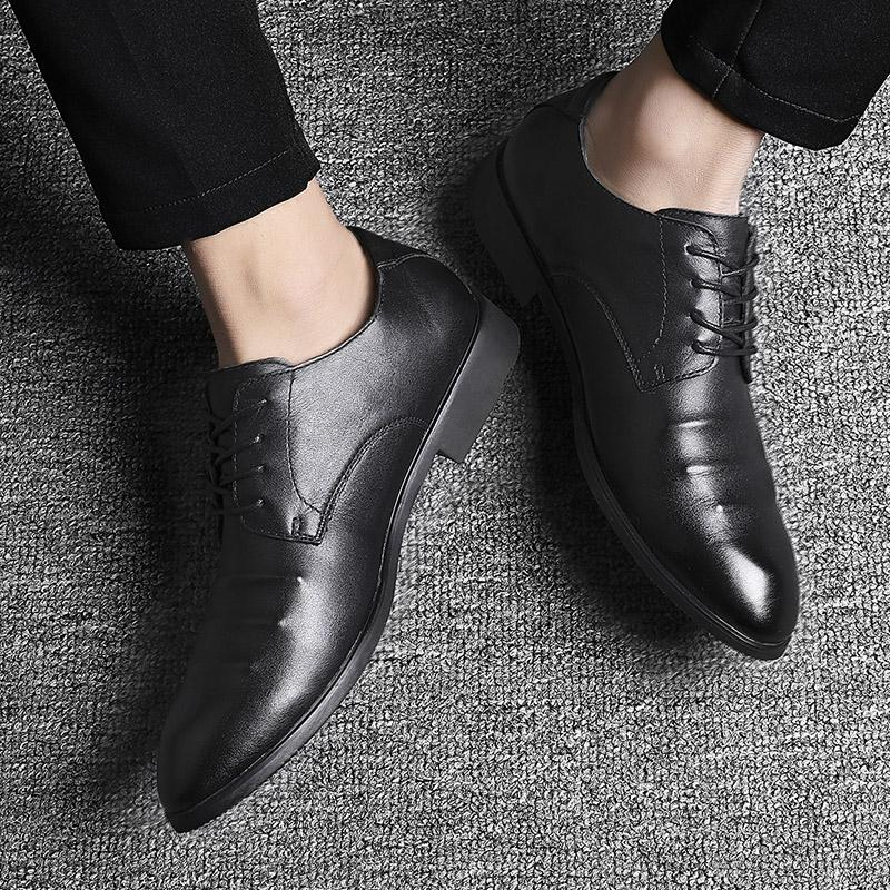 Plus Size 38-48 Men Leather Shoes Men Elegant Formal Social Shoes Gents Shoes