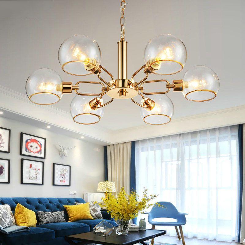 European half ball globe modern black gold glass pendant lamp light for foyer luxury dinning living room hanging light lamp
