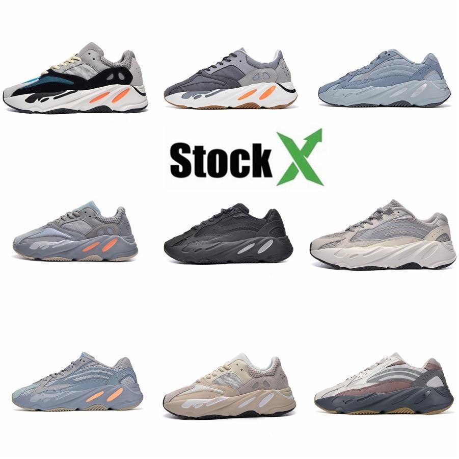 Avec Box 700 V2 coureur de vague Geode Inertie solide gris Vanta Geode statique Hommes Femmes Mauve Kanye West Chaussures Casual Designer Chaussures de sport 36-4 # QA294