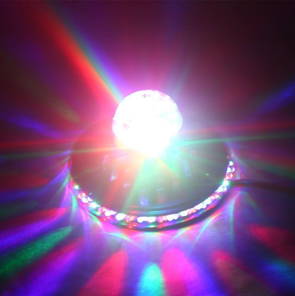 48LEDS 8W الدوارة RGB LED لمبة تغيير لون ماجيك عباد الشمس بقيادة تأثيرات RGB كريستال ضوء المرحلة عيد الميلاد حزب ديسكو كريستال سحر الكرة الخفيفة