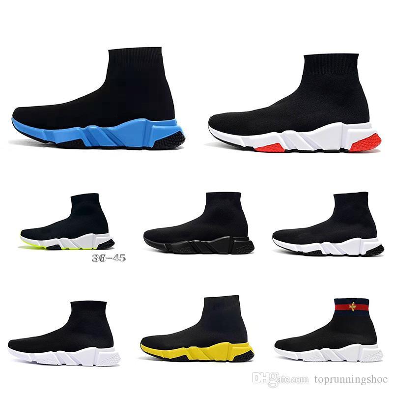 Balenciaga Sock shoes Luxury Brand la manera muchacha del muchacho de los zapatos ocasionales de los hombres diseñador de las mujeres zapatillas de deporte de TAM