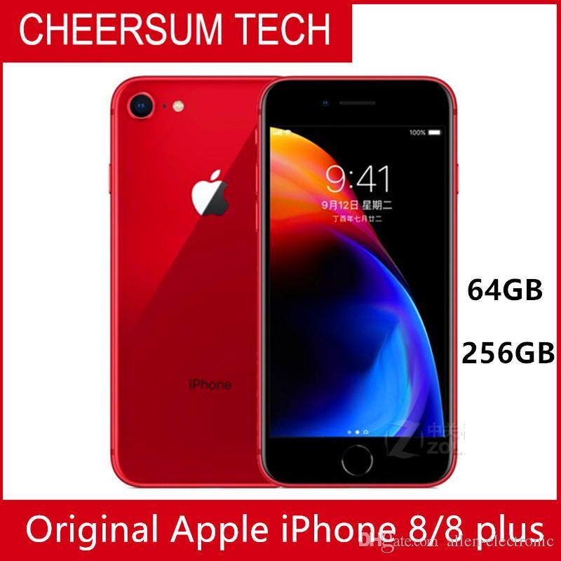Hotsale Unlocked Orijinal iPhone 8 Artı 4G LTE Cep Telefonları 3GB RAM 64/256 GB ROM 5.5 '12.0 MP Hexa-Core Cep Telefonu