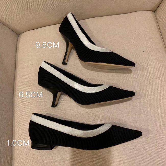 2019 أحدث مصمم أزياء النساء أحذية عالية الكعب 9.5 سنتيمتر أسود عاري شبكة رسائل الشريط أشار أصابع مضخات والاحذية جلد طبيعي 5-42