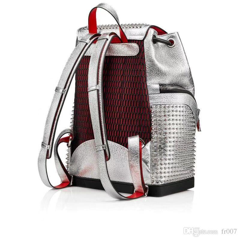 borsa di marca borse amanti della moda di lusso zaino di alta qualità di modo amanti famose catene borsa rivetti borchiati donne e uomini