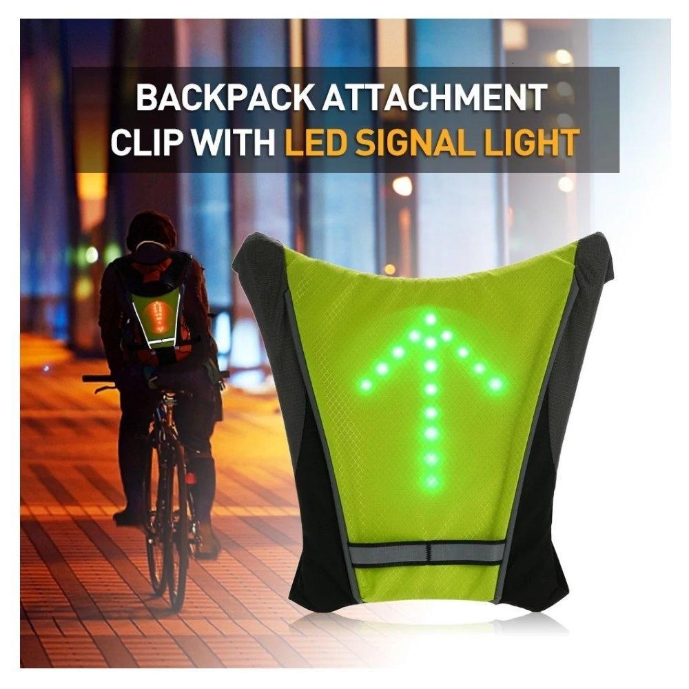 bisiklet ışık Turnning Sinyal Bisiklet bisiklet Gösterge Açık Yürüyüş Kamp Işık Reflektif Yelek Bisiklet Güvenlik LED Sırt Çantası Y191211