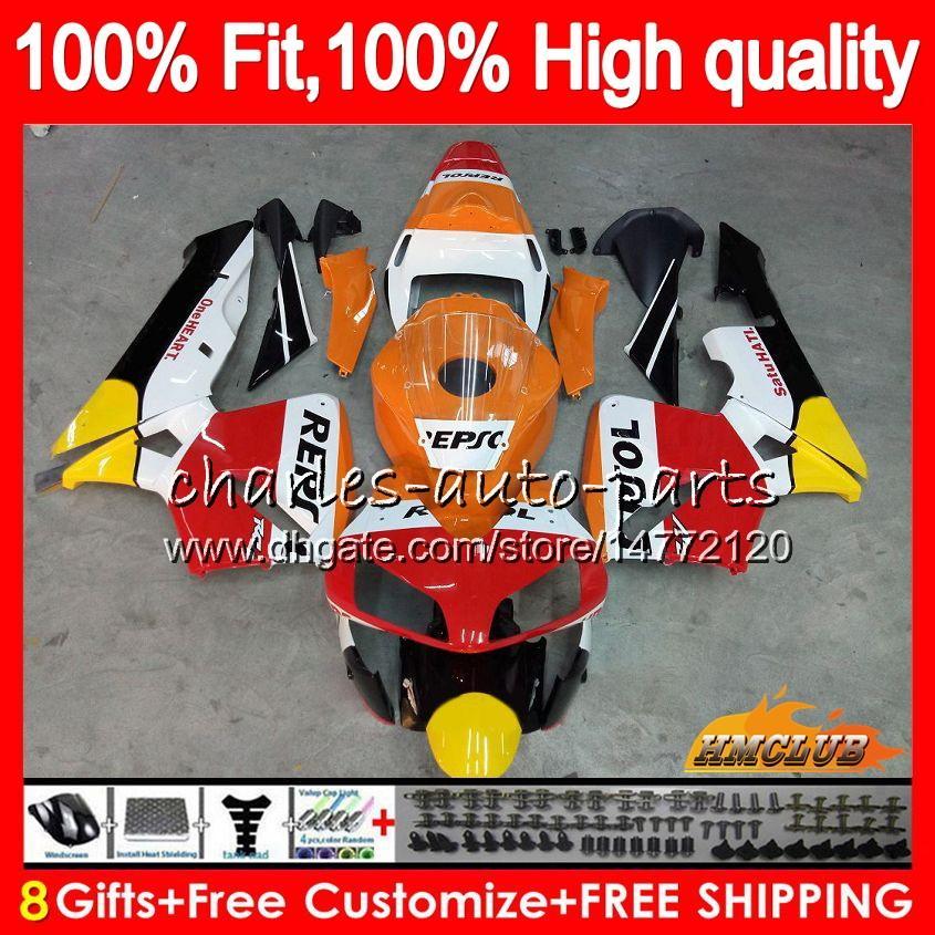 Honda CBR600 RR CBR 600RR CBR600RR 03 04 81HC.0 CBR600F5 2003 2004 CBR 600 600F5 RR F5 03 04フェアリング100%FIT Repsol Orange