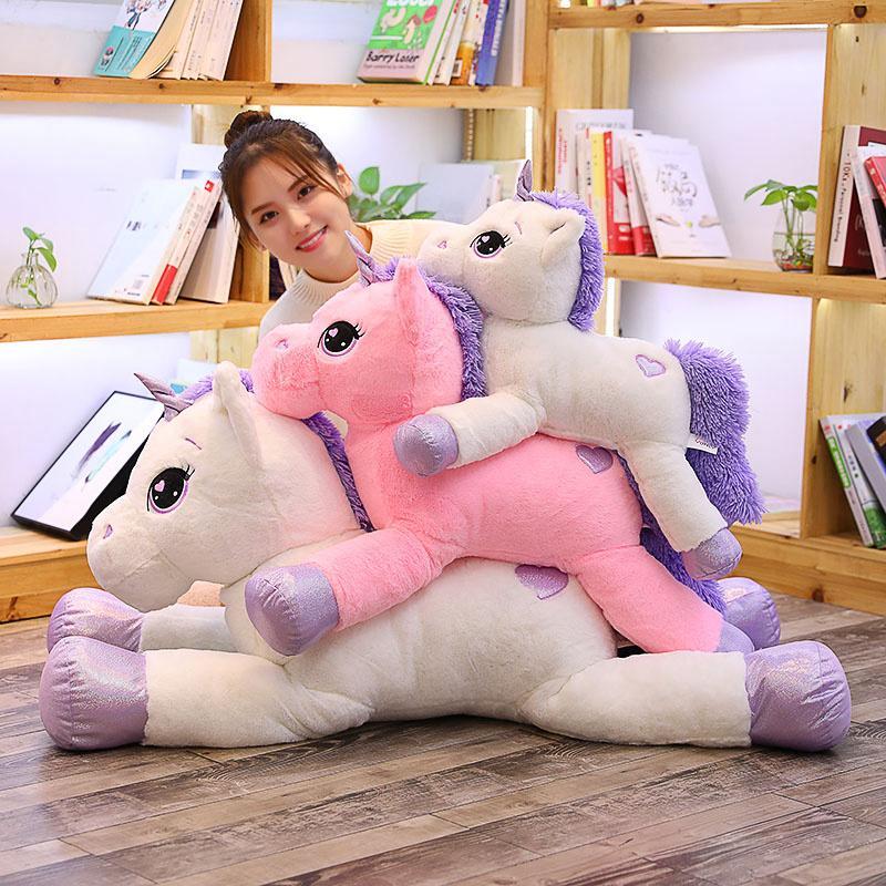 1PC 60-110cm Kawaii Unicorn Stuffed Animals Plush Toy Unicorn Animal Cute Horse High Quality Cartoon Gift For Children Girl