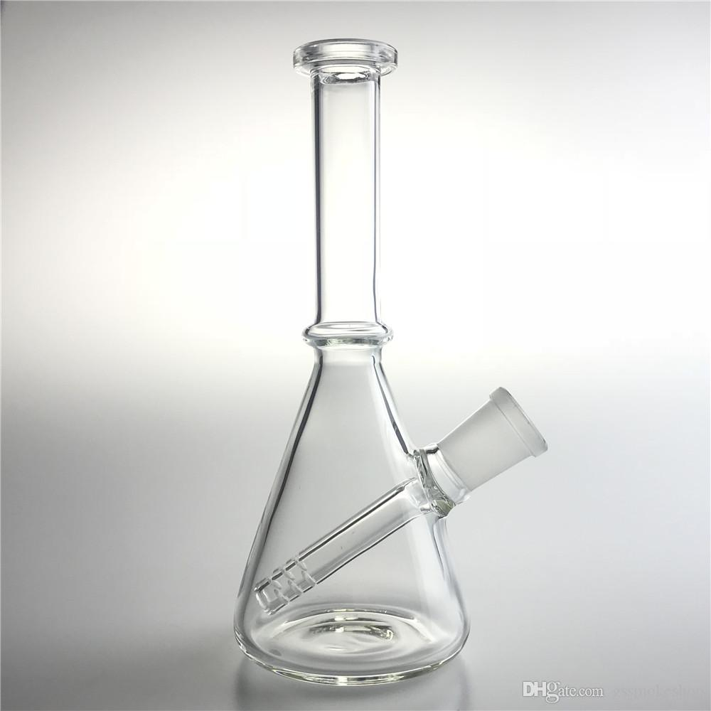 New 6 Inch Medium Glass Water Bongs Straight Mini Oil Rigs Dab Beaker Bong with 14mm Female Recycler Glass Water Bongs for Smoking