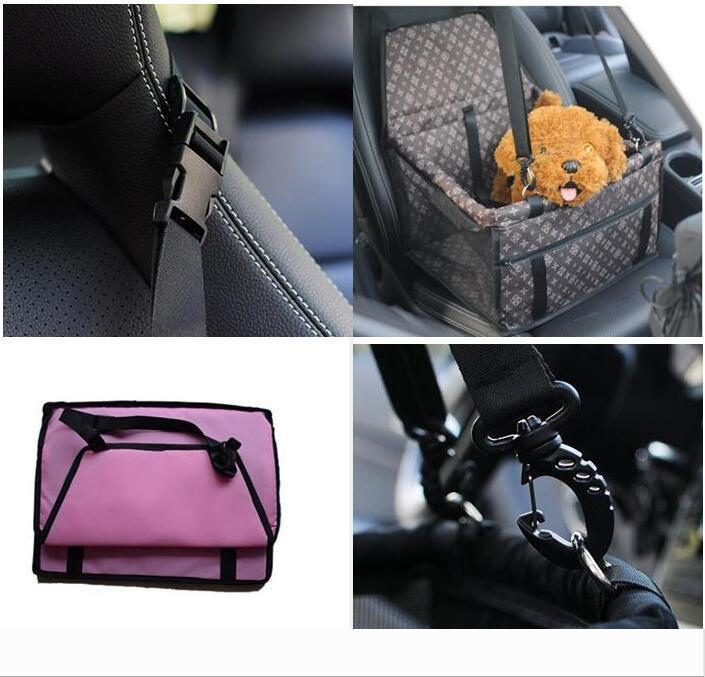 Pet Dog Carrier Car Seat Pad Safe Carry House Cat Puppy Bag Car Travel Accessories Waterproof Dog Seat Bag Basket Pet Products 1377