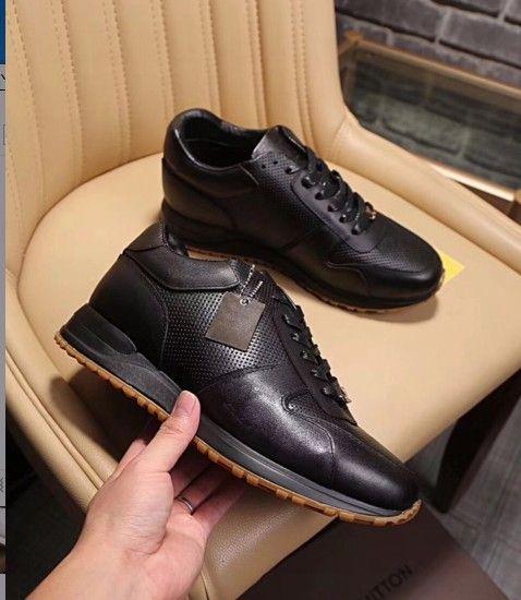 Yüksek kalite En Lüks Tasarımcı Flats Erkekler Ayakkabı Ünlü Moda Stil Hakiki Deri Ayakkabı Erkekler Rahat Shoes38-44