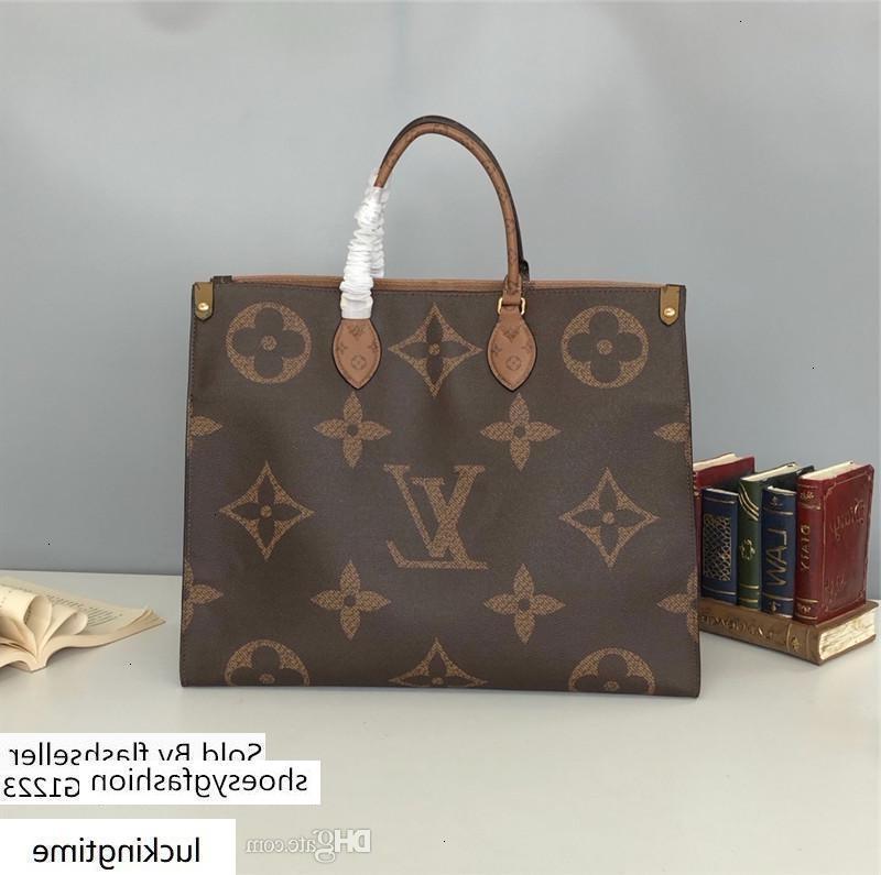 Teslim Tasarımcı Tek Omuz Çantası Yüksek kaliteli Çantalar Erkekler Kadın S Genel Amaçlı 44576 41 * 34 * 19cm